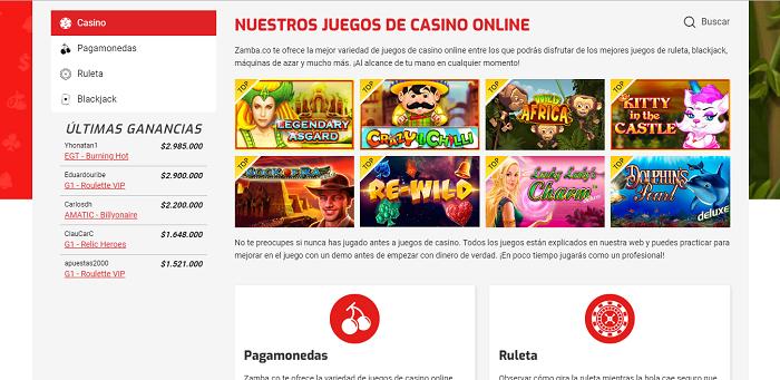 Zamba juegos de casino