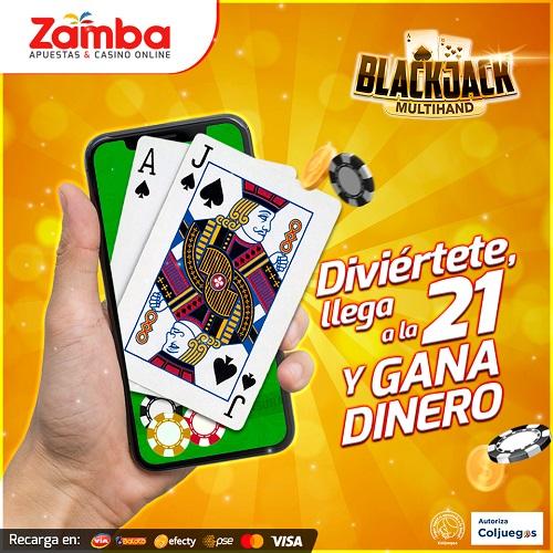 Blackjack online Zamba Casino Colombia