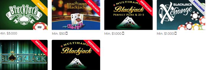 blackjack online en Rushbet