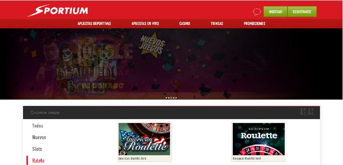Ruletas online de Sportium