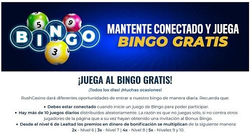 Bingo Online gratis en Rushbet