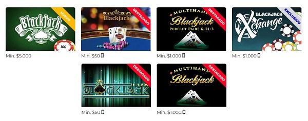 Blackjack Online de Rushbet