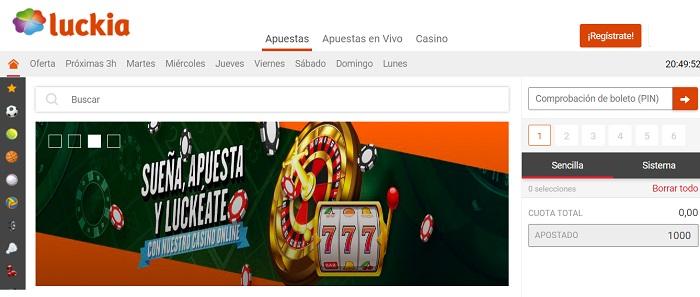 como registrarse en Luckia casino