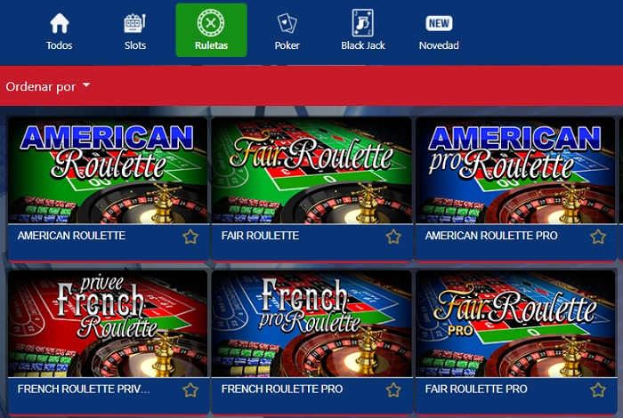 Ruleta online casino Colombia